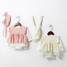 889d29e732f6 Ins Baby Girl Infant Newborn Baby Kids Rompers Ruffles Vest Korean Kids  Girl Cute Sweet Clothings