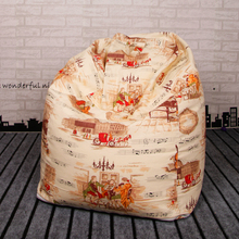 London Impression Style Bean Bag Chair Garden Camping Beanbag cover Lazy Sofa Anywhere Portable Sitting Cushion