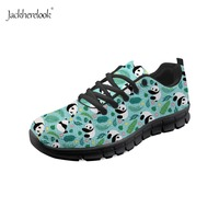 Jackherelook Teens Girls Running Shoes Forest Squirrel Panda Party Print Outdoor Sport Athletic Shoes for Women Leisure Sneakers