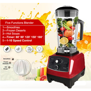 Image 5 - BPA Free Commercial Grade Timer mieszalnik Heavy Duty automatyczny sokowirówka robot kuchenny kruszarka do lodu koktajle 2200W