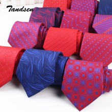 8 см бордово-красный мужской женский свадебный галстук деловой галстук формальный Полосатый жаккардовый галстук Классический корбата галстук Gravata