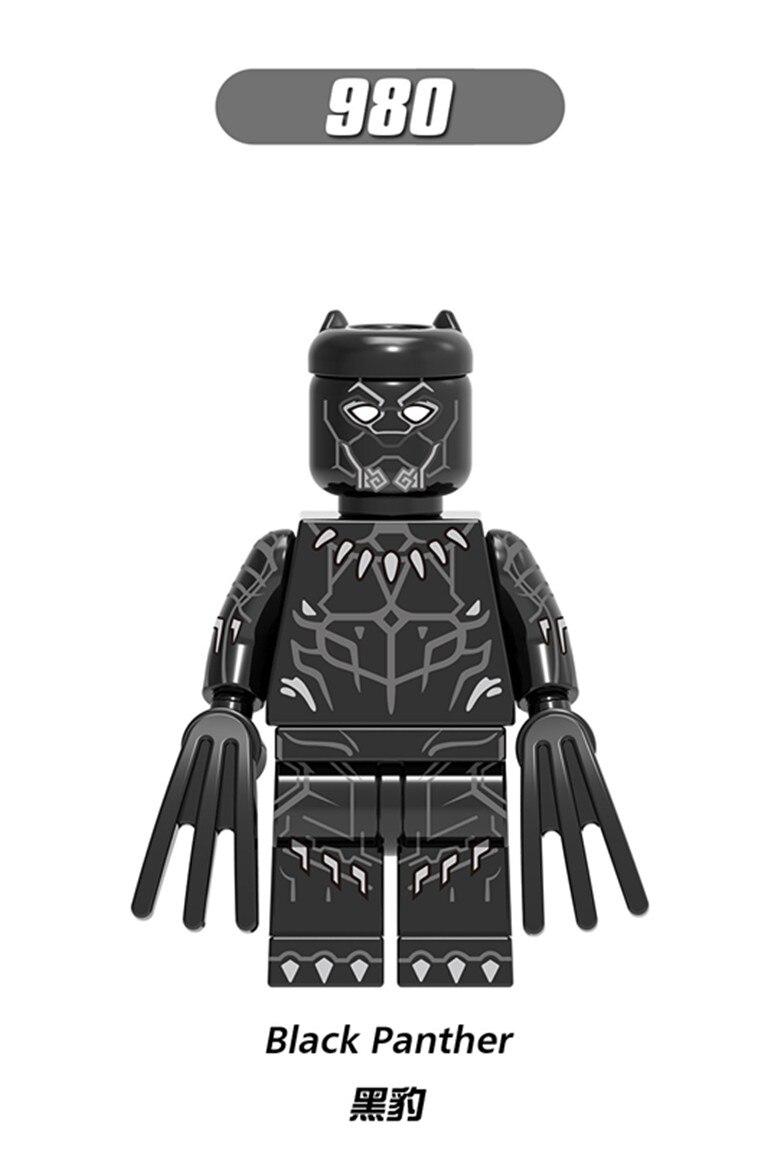 Blocks Charitable 100pcs Xh980 Legoings Iron Man Ghost Rider Red Skull Ulysses Klaw Black Panther Building Block Model Kit Toys For Children Gift