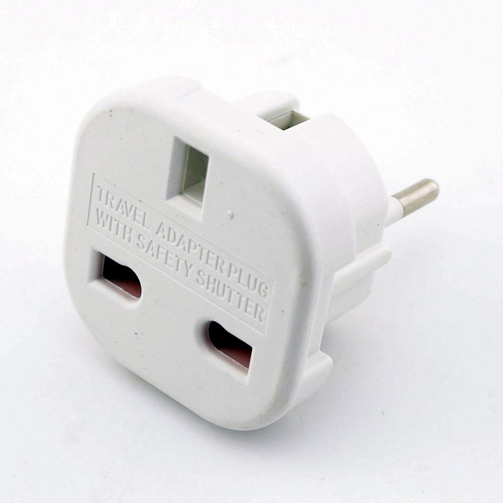 20x UK to EU Universal Power Travel Charger Plug Adapter Converter UK to EU Plug Black / White
