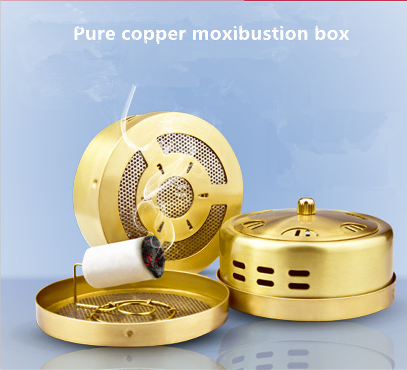 Moxibustion of traditional Chinese medicine Portable acupuncture box Smoke free Body care massage sociology of medicine textbook