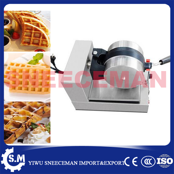 commercial one head electric rotary waffle furnace machine baking pan waffle maker machine plaid pie machine