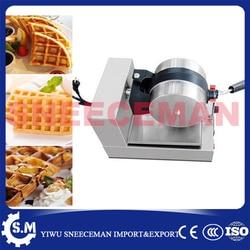 commercial one head electric rotary waffle furnace machine baking pan waffle maker machine plaid pie machine
