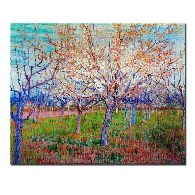 Сад с Цветущий Абрикос Деревьев винсента ван гога ручной ...