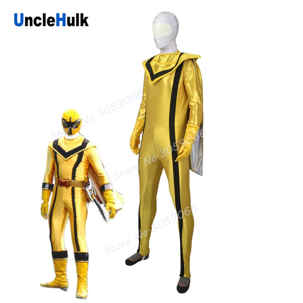 Mystic Force Yellow MagiRanger Spandex Cosplay Costume | UncleHulk