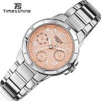 Timesshine Lady Wrist Watch Stainless Steel Quartz Watches Luxury Diamond Watches Women 5ATM Swimming Women Wrist