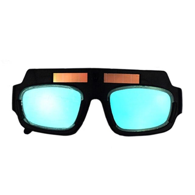 cffe3d26f8 Máscara de Soldadura Auto oscurecimiento con energía Solar casco soldador  de gafas arco PC lentes grandes
