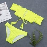 HTB1So1zKFYqK1RjSZLeq6zXppXaD 2018 Sexy Bandage Aztec Biquini String Strappy Swim Wear Bathing Suit Swimsuit Beachwear Swimwear Women Brazilian Bikini