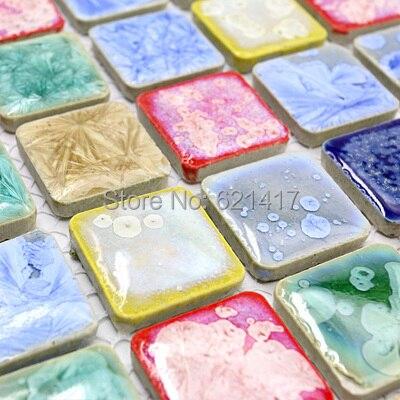 Bunte Poliert Porzellan Fliesen Mosaik Kuche Backsplashl Fliesen