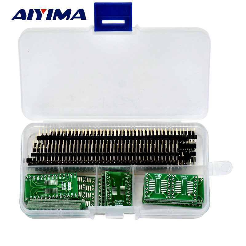 AIYIMA 55pcs SO/SOP/SSOP/TSSOP/SOIC/MSOP 8 14 16 20 24 28 to DIP PCB Board Converter Free shipping mp44010 sop 8