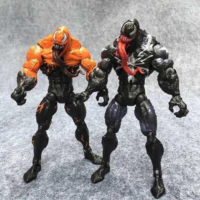 18 cm Os Vingadores Amazing Spiderman Venom Figura Toy black orange cor pré-pintado kit modelo Brinquedos ARTFX Estátua figurals