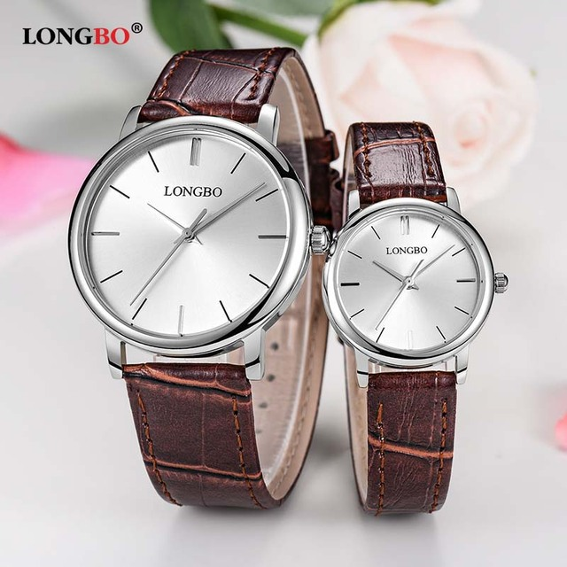 LONGBO 2017 Simple Lovers Watch Casual Leather Fashion Couple Watches Classic Wa