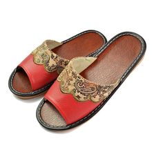 2016 Brand Classic Home Slipper Women Patient Leather Flat with Sandals Lady Casual Indoor Summer Shoes Loafer Plus Size 35~40