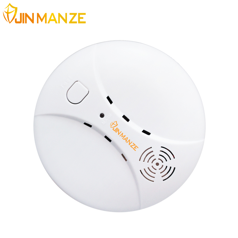 433Mhz  Wireless Photoelectric Smoke Detector Home Commercial Security Guaider Alarm System Device Fire Sensor Detector wireless vibration break breakage glass sensor detector 433mhz for alarm system