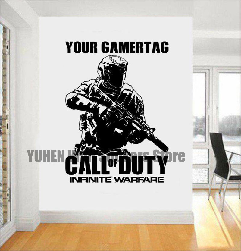 Call of Duty Shooter Sticker Wall Stickers cs Game People Bedroom Study Decorative Waterproof Vinyl Wall Decal