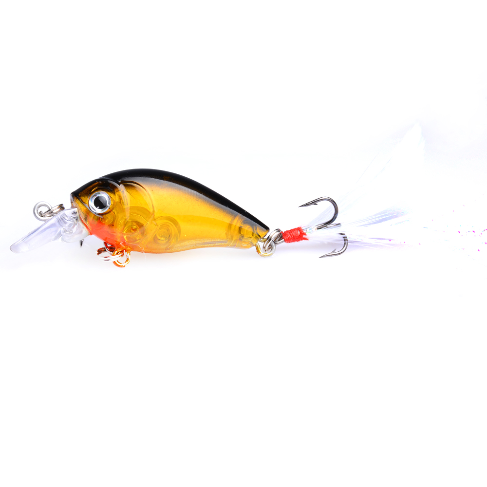 20pcs hard crankbaits plastic artificial wobble fishing lures fishing baits diving pesca fishing tackles 4g 4 5cm in Fishing Lures from Sports Entertainment