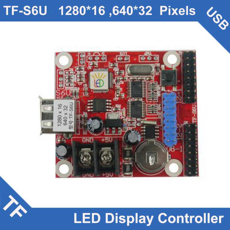 TF-S6U TF Longgreat LED Display Control Card USB Port Asynchronous Single Dual Color