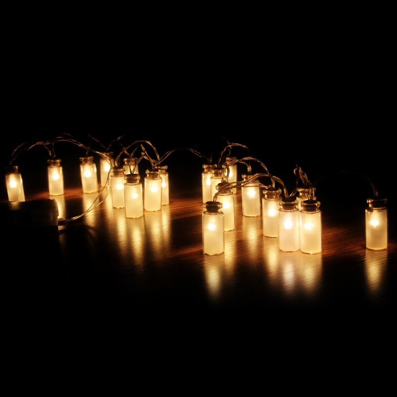 8 режимдері Vintage Glass Jar LED Жарықдиодты - Мерекелік жарықтандыру - фото 6