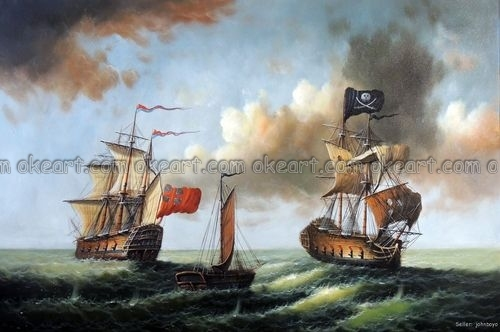 Aliexpress.com : Buy 100% hand painted Pirate Ship Attack ...