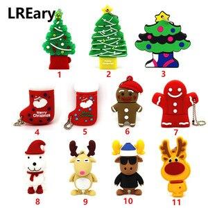 Image 1 - Cartoon USB Flash Drive dog USB Flash Drive 4GB 8GB 16GB 32GB 64GB Elk Deer Memory Stick Christmas tree Pen Drive Cookie man