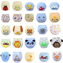 Sample 1pcs Reusable Baby Training Pants Toddler Kids Cheap Diaper Panties Newborn Infant Underwear(China)