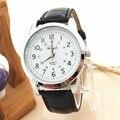 Lovesky Hot Sale Da Moda Mens Relógios Elegantes Analógico Sports Relógio de Pulso de Quartzo com Pulseira de Couro PU Elegante Freeshipping & Distribuição