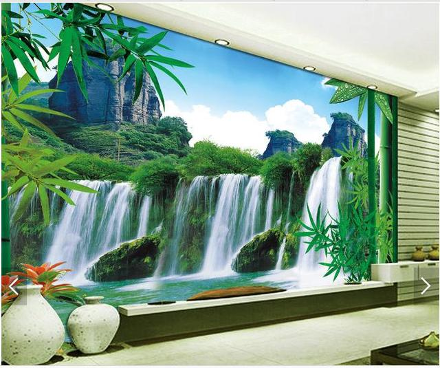 Custom 3d Photo Wallpaper Wall Murals Scenery Background