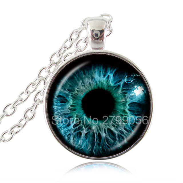 Blue green eye necklace third eye jewelry evil eye pendant cat blue green eye necklace third eye jewelry evil eye pendant cat eye necklace mozeypictures Image collections