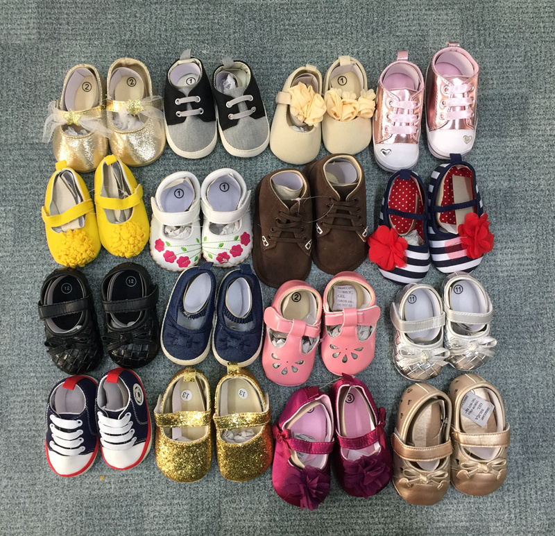 Clearance  First Walker Baby Girl Shoes Baby Boy First Walker Leather Canvas Baby Shoes Infant Footwear Soft Sole Anti-slip