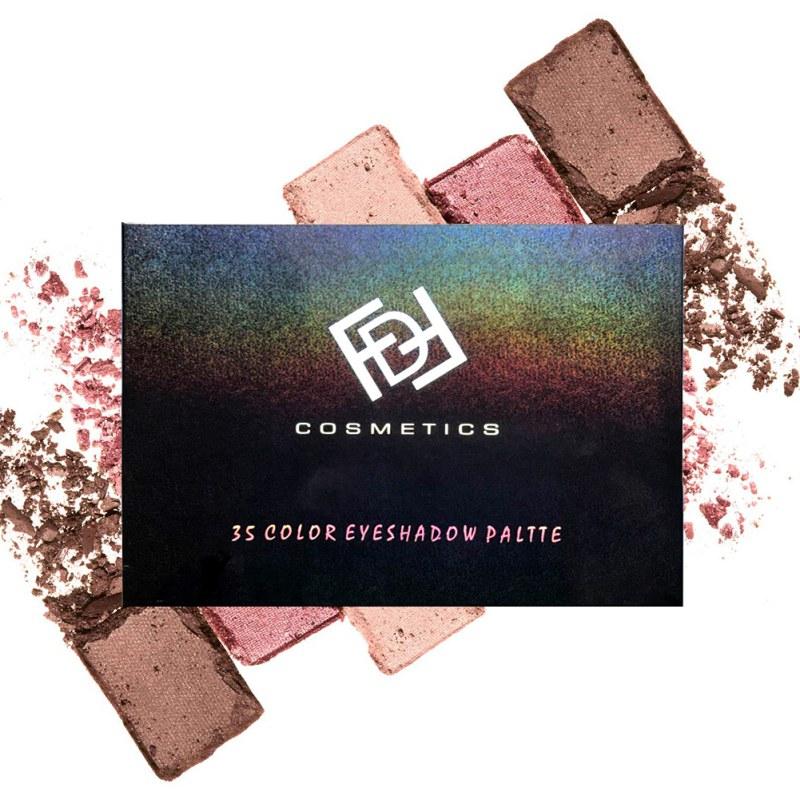 Chic 35 Color Eyeshadow Palette Silky Powder Professional Mas