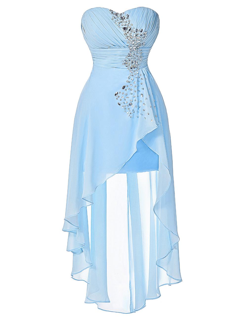 HTB1So3aKVXXXXXfXpXXq6xXFXXXpHigh Low Short Front Long Back Strapless Dress