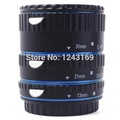 Metal Auto focus AF Macro Extension Tube Ring Adapter Set for Canon EOS EF EF-S Blue DC466