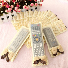 Cloth Flower pattern Television TV box Air conditioner Remote control dustproof Anti dirty protective cover storage bag