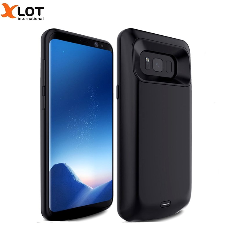 Xlot battery charger case for samsung galaxy s8 s8 plus 5000 5500mah portable external battery backup