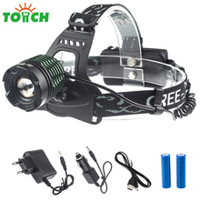 2000Lm Cree xml T6 Cycling Headlamp Waterproof Rotating Led Head Lamp Torch light Mini Cap Lights for Outdoor Hunting Riding