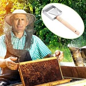 Image 5 - Stainless Steel Honey Scraper Bee Hive Honey Uncapping Fork Scraper Shovel With Wooden Handle Beekeeping Tool