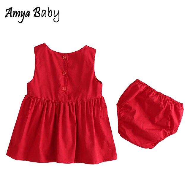 e19bbd1e6e4 Cute Baby Girl Dress Red Solid Color Baby Girls Summer Dresses Kids  Clothing Kids Dresses For Girls Infant Children Clothing. Price