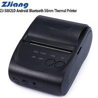 ZJiang ZJ 5802LD Mini Bluetooth 2.0 3.0 4.0 58mm Thermal Receipt Printer 1500mAh Support Logo Trademark Thermal Line Printing