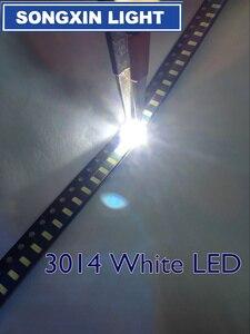 Image 1 - 4000 قطعة 3014 بارد الأبيض SMD LED حبة 3.0 3.2v 30mA 9 10LM 3.0*1.4 مللي متر 6000 6500k 0.1w smd 3014 led الثنائيات