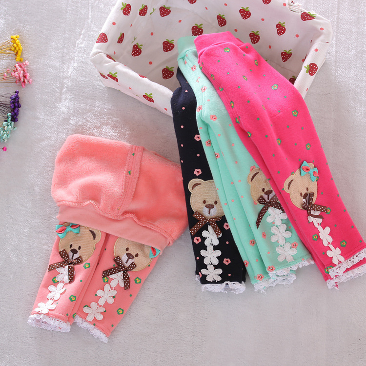 2019 New Winter Baby Warm Pants Fall And Winter Fleece Footless New Infant Knit Trousers Size 0-2 Years  Baby