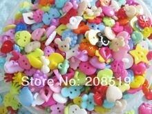 Mix Randomly 30-40styples Buttons children 200pcs/lot China buttons mixed plastic garment accessories