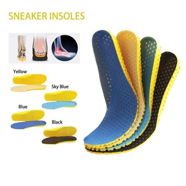 2 cặp Unisex Chỉnh Hình Thoáng Khí Lót Bộ Nhớ Bọt Khử Mùi Sốc Cushion Shoes Pad Lót Trong Sneaker Giày Phụ Kiện