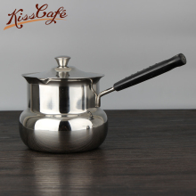 Handle Coffe Pot Hot Milk Cup Coffee 201 stainless steel milk jug tea cup baby hot pot skillet Soup & Stock Pots