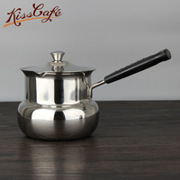 Handle Coffe Pot Hot Milk Cup Coffee Pot 201 stainless steel milk jug milk tea cup baby hot milk pot skillet Soup & Stock Pots