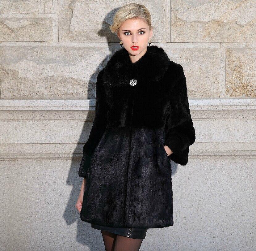 2015 renard manteau de fourrure vison ras manteau en cuir. Black Bedroom Furniture Sets. Home Design Ideas