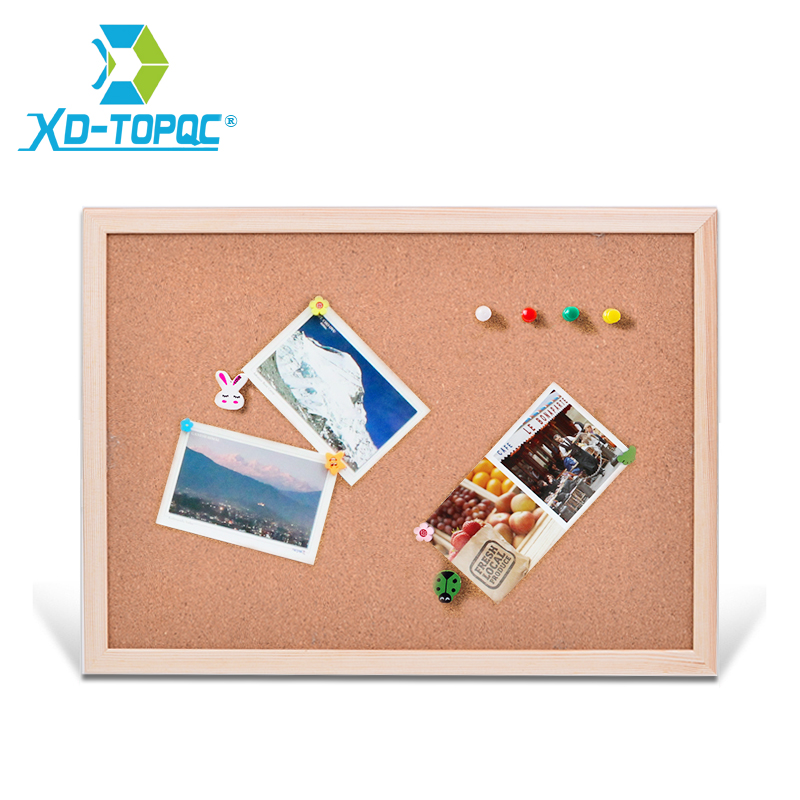 Free shipping natural wood frame Cork Message Board office supplier 25*35cm factory direct sell home decorative