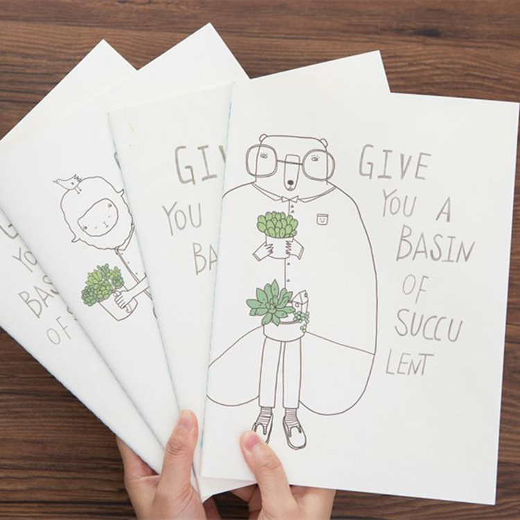 Give You a Basin of Succu Lent 16K Notebook Hand Painted